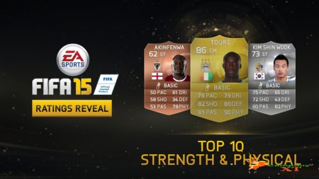 10رتینگ برتر Fifa 15 در Strength & Physical